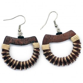 Brown Hoop Earrings